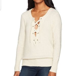 ROXY Front Lace My Little Bliss Sweater